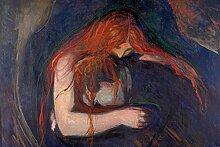 1art1 105138 Edvard Munch - Vampir, 1895 Selbstklebende Fototapete Poster-Tapete 180 x 120 cm