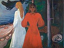 1art1 106044 Edvard Munch - Rot Und Weiß, 1899–1900, 2-Teilig Fototapete Poster-Tapete 240 x 180 cm
