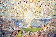 1art1 106177 Edvard Munch - Die Sonne, 1910 Selbstklebende Fototapete Poster-Tapete 180 x 120 cm