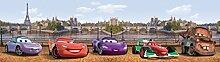 1art1 106567 Cars - Cars Selbstklebende Fototapete Poster-Tapete Bordüre 500 x 10 cm