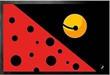 1art1 108546 Logos - Ladybug Fußmatte Türmatte 60 x 40 cm