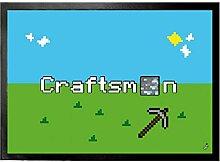 1art1 108936 Gaming - Craftsman Fußmatte Türmatte 70 x 50 cm