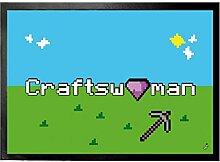 1art1 108939 Gaming - Craftswoman Fußmatte Türmatte 70 x 50 cm