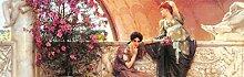 1art1 108979 Sir Lawrence Alma-Tadema - Unbewusste Rivalinnen, 1893, 1-Teilig Selbstklebende Fototapete Poster-Tapete 250 x 79 cm