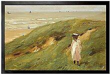1art1 109535 Max Liebermann - Düne Bei Noordwijk Mit Kind, 1906 Fußmatte Türmatte 60 x 40 cm