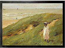 1art1 109536 Max Liebermann - Düne Bei Noordwijk Mit Kind, 1906 Fußmatte Türmatte 70 x 50 cm