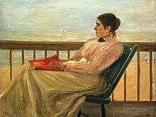 1art1 109714 Max Liebermann - Martha Liebermann, Die Gattin des Künstlers Am Strand 1895, 2-Teilig Fototapete Poster-Tapete 240 x 180 cm