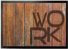 1art1 115354 Typografie - Work Fußmatte Türmatte