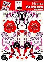 1art1 39938 Schmetterlinge - Frühling Wand-Tattoo Aufkleber Poster-Sticker 70 x 50 cm