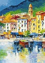 1art1 40525 Italien - Riviera Ligure 4-teilig Fototapete Poster-Tapete 254 x 183 cm