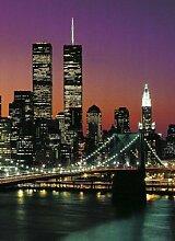 1art1 40528 New York - Manhattan 4-teilig, Fototapete Poster-Tapete (254 x 183 cm)