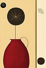 1art1 40537 Vasen - Roter Pitcher 4-teilig Fototapete Poster-Tapete 254 x 183 cm