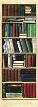1art1 40577 Bücherregale - Bibliothek 2-teilig, Fototapete Poster-Tapete (254 x 91 cm)