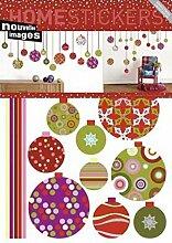 1art1 43051 Wand-Tatoos Weihnachten, Weihnachtskugeln Poster-Sticker 70 x 50 cm