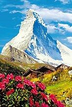 1art1 48271 Matterhorn - 4-Teilig Fototapete Poster-Tapete 254 x 183 cm