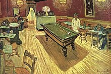 1art1 50762 Vincent Van Gogh - Das Nachtcafé An Der Place Lamartine In Arles, 1888 Selbstklebende Fototapete Poster-Tapete 180 x 120 cm