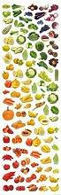 1art1 73674 Kochkunst - Regenbogen Aus Obst Und Gemüse, 1-Teilig Fototapete Poster-Tapete 250 x 79 cm