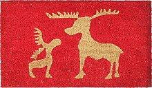 1art1 90435 Weihnachten - Rentiere Fußmatte