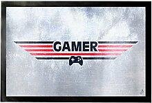 1art1 92581 Gaming - Gamer Fußmatte Türmatte 60