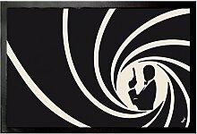 1art1 93596 Geheimagenten - Im Dienste Ihrer Majestät Mit Der Lizenz Zum Töten Fußmatte Türmatte 60 x 40 cm