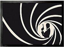 1art1 93597 Geheimagenten - Im Dienste Ihrer Majestät Mit Der Lizenz Zum Töten Fußmatte Türmatte 70 x 50 cm