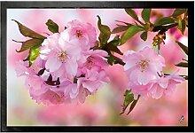 1art1 93602 Blumen - Kirschblüten Fußmatte Türmatte 60 x 40 cm