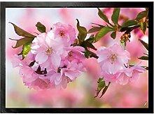1art1 93605 Blumen - Kirschblüten Fußmatte Türmatte 70 x 50 cm
