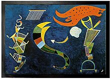1art1 94240 Wassily Kandinsky - Mit Dem Pfeil, 1943 Fußmatte Türmatte 70 x 50 cm