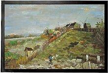 1art1 94820 Vincent Van Gogh - Montmartre Mit Steinbruch Und Mühlen, 1886 Fußmatte Türmatte 60 x 40 cm