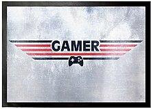 1art1 95134 Gaming - Gamer Fußmatte Türmatte 70 x 50 cm