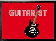 1art1 96555 Musik - Guitarist Fußmatte Türmatte 70 x 50 cm