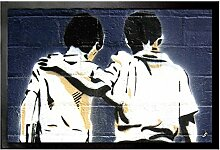 1art1 97216 Graffiti - Freunde Fußmatte Türmatte