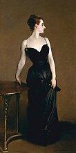 1art1 98501 John Singer Sargent - Portrait Der Madame X , 1883, 1-Teilig Selbstklebende Fototapete Poster-Tapete 240 x 120 cm