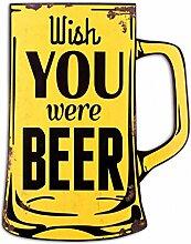 1art1 98543 Bier - Wish You were Beer Poster