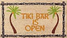 1art1 98648 Bars - Tiki Bar Is Open Fußmatte Türmatte 70 x 40 cm