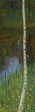 1art1 99516 Gustav Klimt - Seeufer mit Birken, 1901, 1-Teilig Fototapete Poster-Tapete 250 x 79 cm