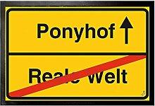 1art1 99641 Spaß - Ponyhof, Reale Welt Fußmatte