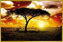 1art1 Afrika Poster und Kunststoff-Rahmen -