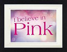 1art1 Audrey Hepburn - I Believe In Pink Gerahmtes