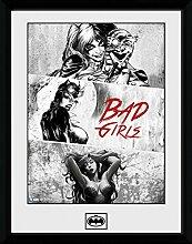 1art1 Batman - Badgirls Gerahmtes Bild Mit Edlem