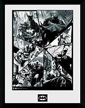 1art1 Batman - Collage Gerahmtes Bild Mit Edlem
