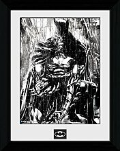 1art1 Batman - Rain Gerahmtes Bild Mit Edlem