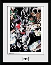 1art1 Batman - Villians Gerahmtes Bild Mit Edlem