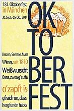 1art1 Bier Poster und Kunststoff-Rahmen -