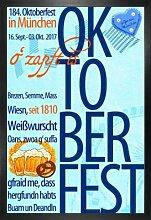 1art1 Bier Poster und MDF-Rahmen - Oktoberfest