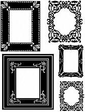 1art1 Bilderrahmen - Flock Frames Wand-Tattoo
