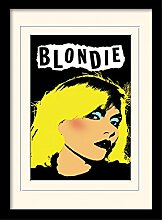 1art1 Blondie - Punk Gerahmtes Bild Mit Edlem