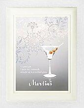1art1 Cocktails - Martini Gerahmtes Bild Mit Edlem