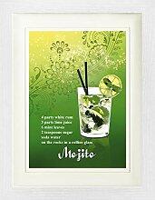 1art1 Cocktails - Mojito Gerahmtes Bild Mit Edlem