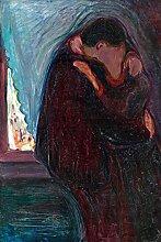 1art1 Edvard Munch - Der Kuss, 1897 Selbstklebende
